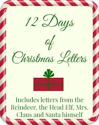 free printable 12 days of christmas letters the taylor house
