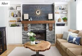 cabin fireplace part 2 built ins