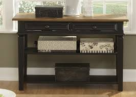 credenza table bungalow ii jr executive credenza hutch in driftwood black