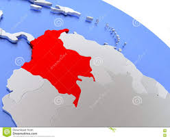 Columbia World Map by Colombia On World Map Stock Illustration Image 78579414