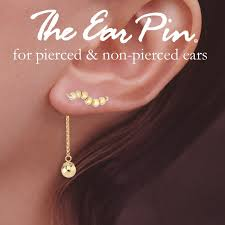ear pins gold ear pin earrings with gold bead enhanceer earrings