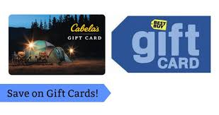 best deals on gift cards gift card deals best buy gap cabela s more southern savers