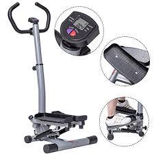 goplus twister stepper with handle bar step machine fitness