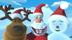 christmas cartoon for kids starring a reindeer a snowman and