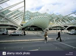 oriente station gare do oriente modern architecture lisbon gare oriente station roofing road with modern architecture designed by the architect santiago