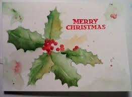 christmas cards in watercolor christmas card watercolors by marian