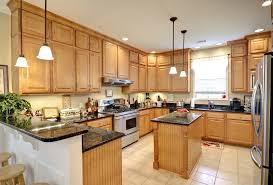 Light Oak Kitchen Cabinets Light Oak Kitchen Cabinets Backsplash With Updating Wood Black