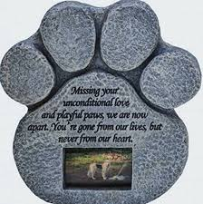 pet memorial garden stones paw print pet memorial features a photo