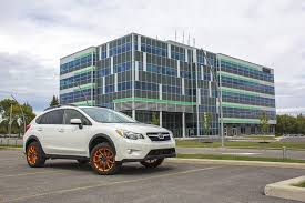 black subaru crosstrek rtx blaze wheels orange with black face
