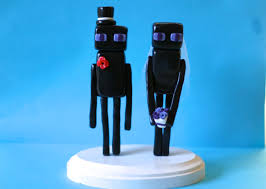 wedding cake toppers theme enderman minecraft wedding cake toppers custom wedding cake
