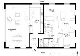 plan maison contemporaine plain pied 3 chambres exceptional plan maison de plain pied 3 chambres 4 plan de