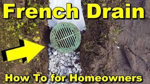 french drain to backyard sump pump diy youtube