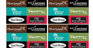 darden restaurants gift cards darden gift cards lobster gift card ideas
