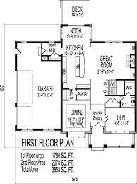 open floor house plans two story 2 story architect home 4 bedroom open floor plan front porch 3 car