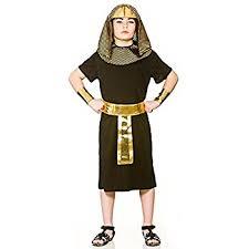 Egyptian Halloween Costumes Kids Egyptian Pharoah Robe Kids Costume 7 9 Amazon Uk