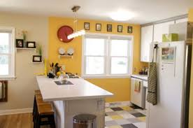 Yellow Kitchens With White Cabinets - kitchen wonderful modern kitchen color combinations kitchen