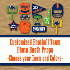Nfl Decorations Nfl Football Birthday Photo Booth Props And Decorations Kids