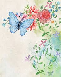 scrapbook paper design with a butterfly free printable