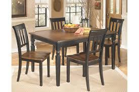 Black Wood Dining Room Set Owingsville Dining Room Table Ashley Furniture Homestore
