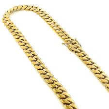 rose gold link necklace images Half kilo yellow gold miami cuban link colossal chain for men 14mm jpg