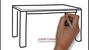 easy step for kids how to draw a table youtube