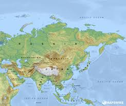 map of asai free physical maps of asia mapswire
