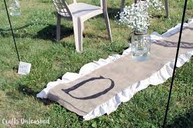 burlap wedding aisle runner diy monogram burlap aisle runner consumer crafts