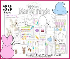 Printable Activity Book 33 Pages Of Easter Fun Free Preschool And Toddler Printable