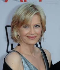 hair color and styles for woman age 60 diane sawyer wearing her hair in a short bob hairstyle that rests