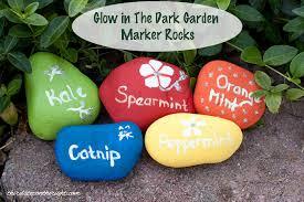 glow in the dark garden marker rocks