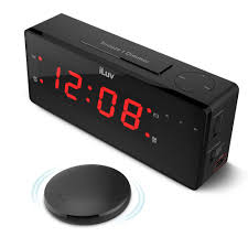 iluv timeshaker boom vibrating alarm clock with wireless bed