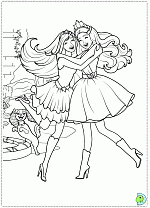 barbie princess popstar coloring pages dinokids org