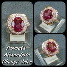 ring cincin alpaka jual cincin batu akik permata alexandrite color change ring alpaka