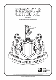 newcastle united f c logo coloring coloring page with newcastle