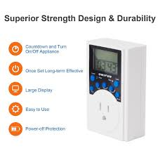 timer outlet unifun infinite cycle programmable plug in digital