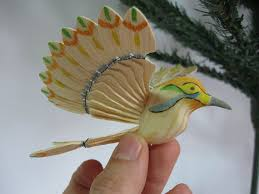 hummingbird ornament christmas tree decoration wood by myfanbirds