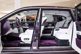 roll royce rouce this 2018 rolls royce phantom is purple on purple perfection