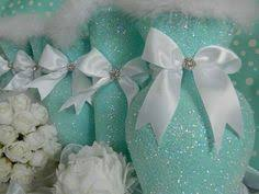 centerpiece tiffany co inspired bling box with white silk roses