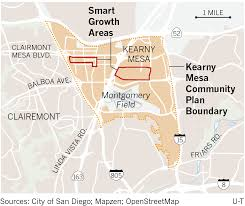 San Diego Transit Map by Kearny Mesa U0027s Future Likely To Include More Housing Dense Transit