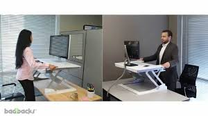 Sit Stand Computer Desk by Ergotron Workfit T Sit Stand Desktop Workstation Youtube