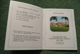 Wedding Booklets Wedding Information Booklets And Orders Of Service Wedding
