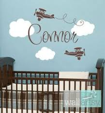 Nursery Wall Decals For Baby Boy Customable Personalized Nursery Wall Decals For Baby Boy Airplanes