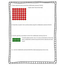 multiplication with arrays worksheets u0026 printables printable math
