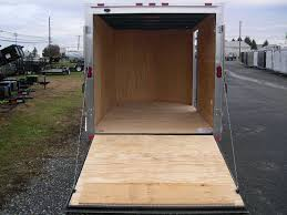 V Nose Enclosed Trailer Cabinets by Homesteader 7 X 12 V Nose Enclosed Trailer 6