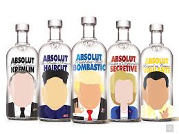 absolut vodka design if absolut vodka bottles were world leaders designtaxi
