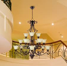 Chandeliers For Foyers C188 2645 Hamilton Home Oil Rubbed Bronze Finished Multi Tier