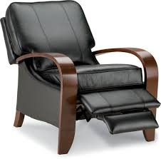 carlyle high leg recliner brown u0027s furniture showplace