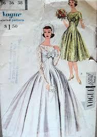 wedding dress patterns 50s wedding dress pattern fashion dresses