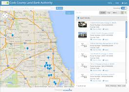 Chicago Il Map by Cook County Land Bank Authority U2013 View Property