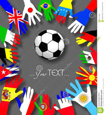 Countries Of The World Flags Hands Of Football Fans From Different Countries As National Flags